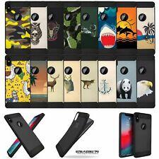 "For (iPhone XR/ 10R (6.1"")) Art Black TPU Bumper Carbon Fiber Flexible Case"