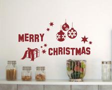 Wandsticker Merry Christmas Wandaufkleber 25 Farben 6 Größen Wandsticker Sticker