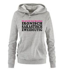 Comedy Shirts - ICH SPRECHE DREI SPRACHEN... - Damen Hoodie | Spruch