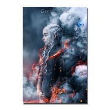 Game of thrones 7 Emilia Clarke Silk Fabric Poster Canvas Art Print 12x18 24x36