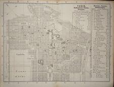 1836-ITALIA-TORINO-PIAZZA FILIBERTO-RARA TOPOGRAFIA MAPPA-Ernst Forster-ORIGINAL