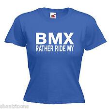 BICICLETTA BMX DONNA LADY FIT T SHIRT 13 COLORI TAGLIA 6 - 16