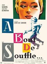 A BOUT DE SOUFFLE VINTAGE MOVIE POSTER  FILM A4 A3 ART PRINT CINEMA