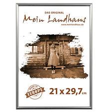 Bilderrahmen, Kunstoff silber 21x29,7cm (DIN A4) Urkunde, Zeugnis, Foto Rahmen