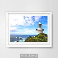 Seaside Ocean Blue FARO art print poster ARREDAMENTO STANZA CIELO Spiaggia Muro