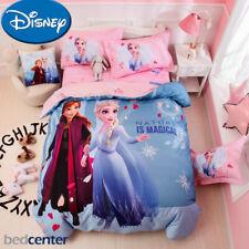 Disney Frozen Anna Elsa Princess 100% Cotton Twin Queen Duvet Cover Bedding Set