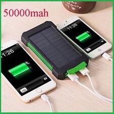 50000mAh Power Bank Waterproof Dual USB Portable Solar Battery Charger Solar USA