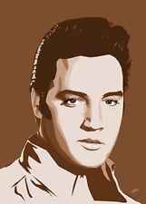 Elvis Presley - Elvis In Brown - Original (signed) art print - Jarod Art
