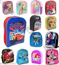 CHILDREN'S BOYS/GIRLS DISNEY RUCKSACKS BACKPACK SCHOOL BAGS CARS MINIONS MINNIE