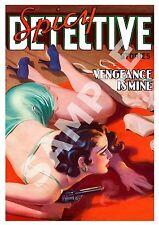 Detective picante: Vintage pulpa Adulto portada de la revista cartel reproducción.