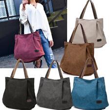 Women Ladies Large Canvas Handbag Travel Shoulder Bag Casual Tote Purse NEW Lot