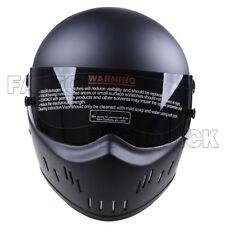 DOT Motorcycle Matte Black Motocross ATV MX Full Face Helmet Fiberglass S~XXL