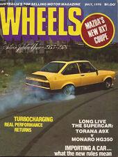 Wheels Jul 78 Saab Turbo RX7 A9X Monaro 350 Statesman