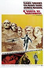 North by Northwest Hitchcock Película Vintage Póster Película A4 A3 Art Print Cine