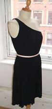Baylis & Knight une épaule noir robe DRAPE Grecian jersey
