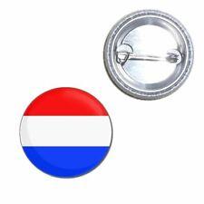 Holland Flag - Button Badge - Choice 25mm/55mm/77mm Novelty Fun BadgeBeast