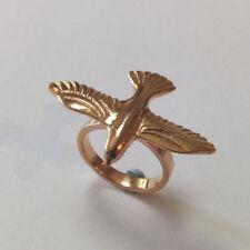Bronze Rose Gold Plated Bird In Flight Ring
