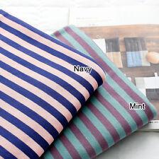 "Stripe Cotton Knit Single Fabric by the Yard 74"" Wide MR Candy Dangara"