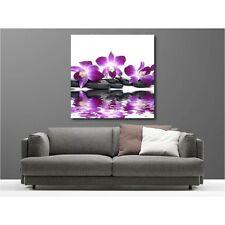 Tableaux toile déco carré galet orchidée 41654116