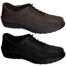 Femmes Confortable Véritable Cuir Front Lacet Chaussures À Semelles Plates Pour