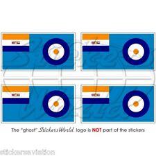 SÜD AFRIKA Luftwaffe Flagge SAAF Fahne 40-51 Afrika 50mm Sticker Aufkleber x4