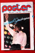 Michael Jackson 1984 Rare Vintage 2 Sided Exyu Poster Magazine