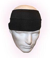 Wide 4 inch Black Hairband head band wrap headband