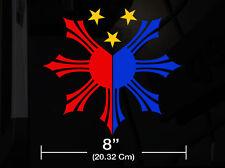 "Filipino Vinyl Car Decal Sticker 8""(W) w/ Philippine Flag 3colors Create No2 RL"