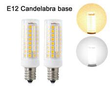 2pcs E12 Candelabra LED bulb C7 9W 110V 102Led 2835SMD Lamp Ceiling Fans Light H