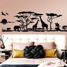 Wandtattoo Wandsticker Wandaufkleber Wohnzimmer Afrika Savanne Landschaft W683