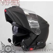 VIPER Rider rsv171 BL + Bluetooth cancelación ruido Casco motocicleta negro mate