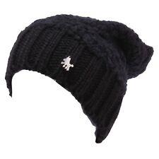 5349Y cuffia bimba girl Lulu' black berretto hat