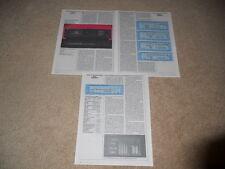Sony ES Review, TC-RX80es Cassette, 3 pg, 1988, Full Test, Specs