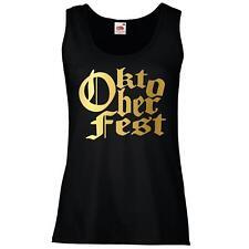 Ladies Black Oktoberfest Festival Vest Germany Beer Drinking Sausage