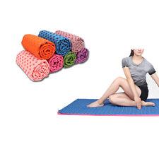 Rutsch Yoga Handtuch Fitness Training Tuch Pilates Sport Matte Abdeckung