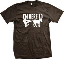 I'm Here To Kick Ass Donkey Karate Jump Butt Hee Haw Jackass Beat Men's T-Shirt