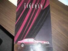 1990 Lincoln Mark VII Sales Catalog