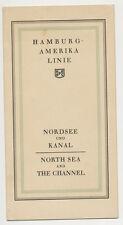 Hamburg-American Line Map - North Sea & The Channel