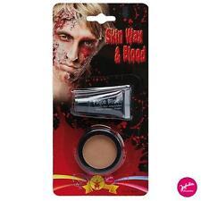 IAL Horror Halloween Make-up Set Skin Wax + Kunstblut Theaterblut Blut Schminke