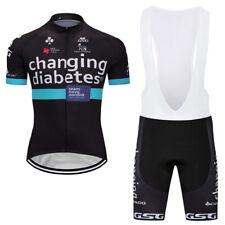 Men's Road Bike Clothing Sets Cycling Jersey Bib Shorts Cycling Kit Black 2018
