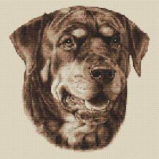 "Sepia,10/""x10/"",25x25cm,kit or chart Bulldog Cross Stitch Design"