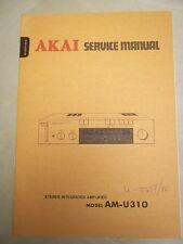 Vtg Akai Service/Repair Manual~AM-U310 Integrated Amplifier/Amp~Original