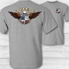American Eagle Logger Tee Shirt - USA patriotic lumber logging loggers t shirt