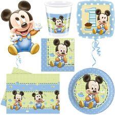 Baby Micky Maus Kindergeburtstag Babyshower Party Mickey Mouse 1. Geburtstag Set