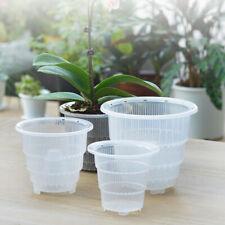 UK Durable Clear Flower Pots Plant Fleshy Orchid Planter Home Desktop Gardening