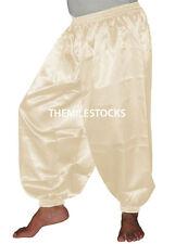 Cream - TMS Satin Harem Yoga Pant Belly Dance Boho Hippy Pantalons - 30 Color