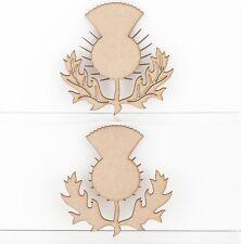 Thistle Scottish Emblem Highland Craft Shapes Embellishments 3mm Thick MDF Wood