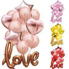 15Pcs/set Love Latex Letters Balloon Wedding Foil Helium Balloons Decorations