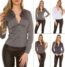 Sexy Koucla Eng Taillierte langarm Bluse Hemd