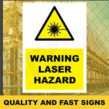 Láser advertencia peligro impresiones a todo color signo impreso pesado deber 3937
